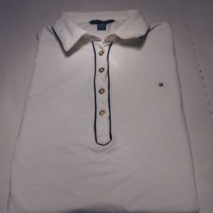 Tommy Hilfiger White Polo Sz XXL Short Sleeve